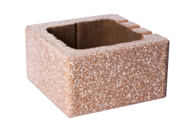 Кирпич антик тычковой стандартный для заборов и перегородок половинка BZC-12 Brick House