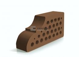 Фасонный кирпич Евротон ВФ-10 коричневый