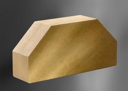Облицовочный кирпич Литос стандартный полнотелый гладкий 2-х угловой желтый