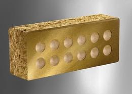Облицовочный кирпич Литос стандартный пустотелый колотый тычковой желтый
