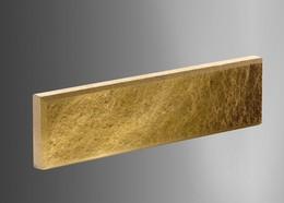 Облицовочный кирпич Литос тонкий колотый с фаской желтый