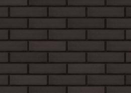 Клинкерная фасадная плитка Volcanic black (18) Вулканический черный